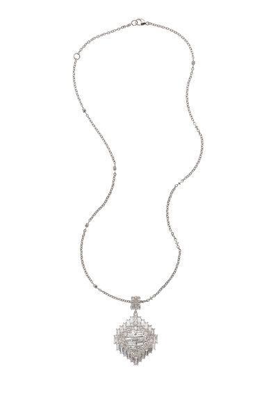 Nam Cho - White Gold White Sapphire White Diamond Necklace