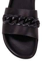Marion Parke - Christine Black Leather Chain Detail Slide