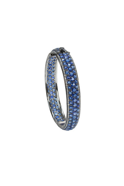 Nam Cho - White Gold Blue Sapphire & White Diamond Bracelet