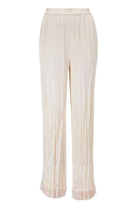 Michael Kors Collection Ecru Crushed Pajama Pant