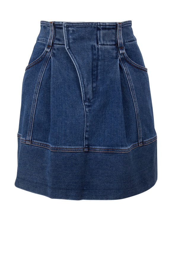 Chloé Moonlight Blue Denim Mini Skirt