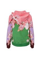 Valentino - Multicolor Floral Front Zip Hoodie