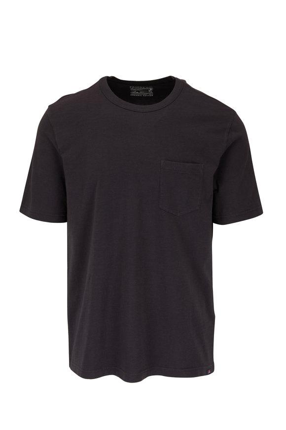 Faherty Brand Washed Black Sunwashed Pocket T-Shirt