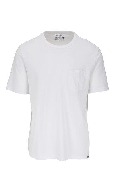 Faherty Brand - White Sunwashed Pocket T-Shirt