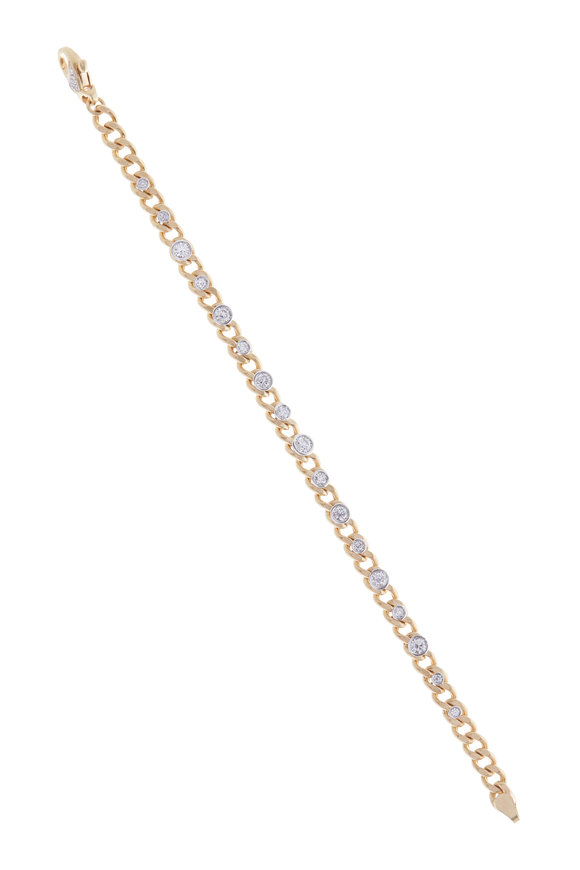 Mariani Rose Gold Diamond Link Bracelet