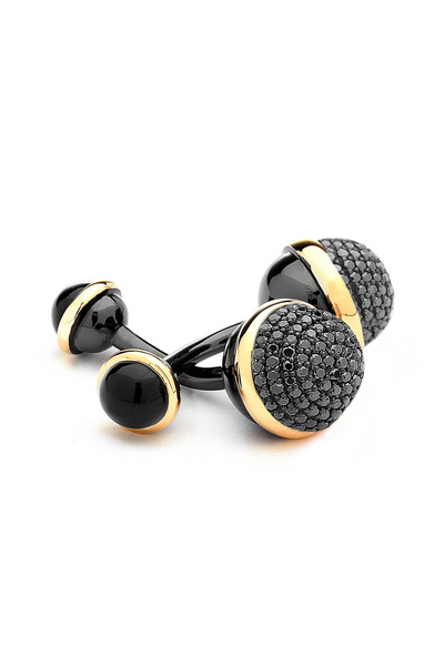 Syna - Black Onyx & Black Diamond Cuff Links