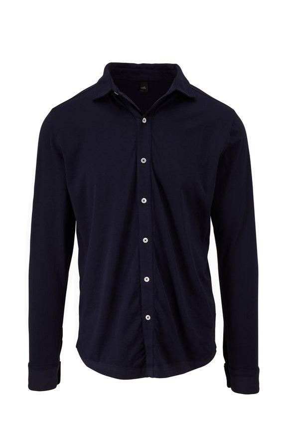 WAHTS Barton Navy Button Down Shirt