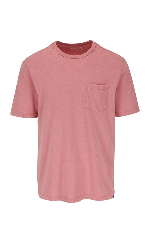 Faherty Brand Faded Flag Sunwashed Pocket T-Shirt