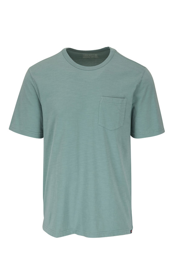 Faherty Brand Jade Sunwashed Pocket T-Shirt