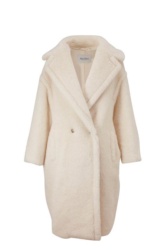 Max Mara Tedgirl Ivory Double-Breasted Coat