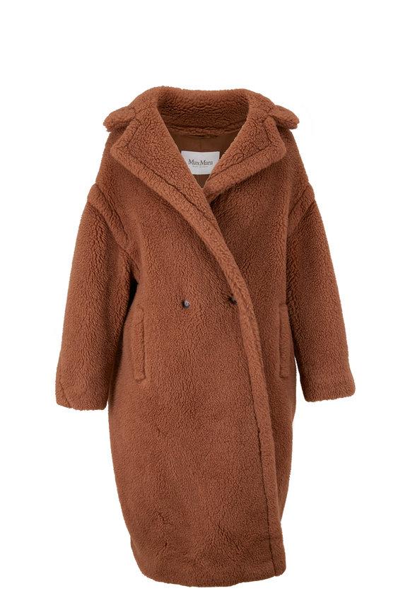Max Mara Teddy Camel Wool & Silk Coat