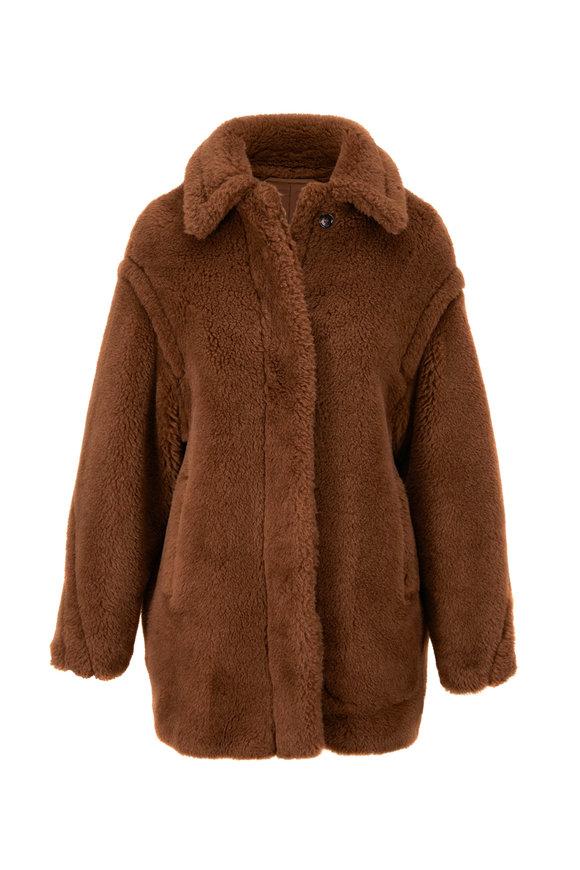 Max Mara Viale Cuoio Alpaca Blend Coat