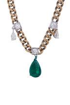 Mariani - Yellow Gold Diamond & Emerald Necklace