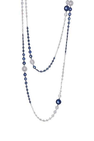 Mariani - White Gold Sapphire & Diamond Necklace