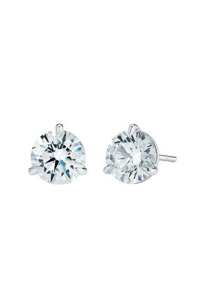 Kwiat - Platinum White Diamond Stud Earrings