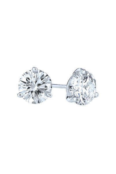 Kwiat - Platinum Diamond Studs, 1.42 TCW