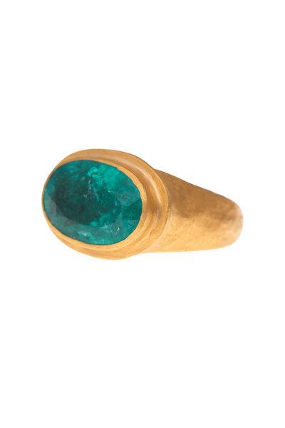 Yossi Harari - Carmen Gold Paraiba Tourmaline Cocktail Ring