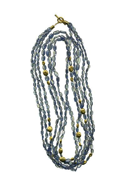 Yossi Harari - 24K Yellow Gold Kyanite Roxanne Necklace