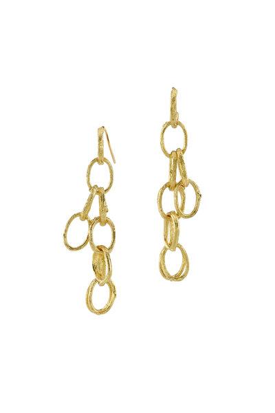 Aaron Henry - Yellow Gold Open Branch Dangle Earrings