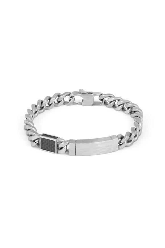 Tateossian Stainless Steel Large Link ID Bracelet