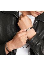 Tateossian - Black Braided Leather Bracelet