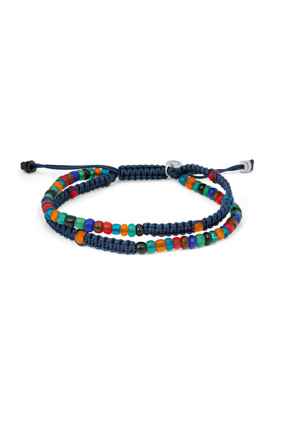 Tateossian - Multicolor Recycled Glass Bead Bracelet