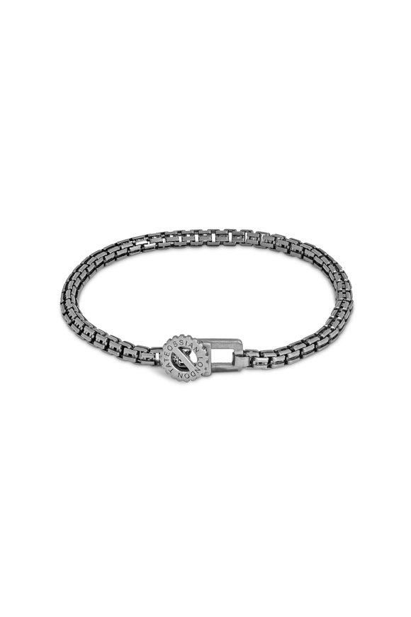Tateossian Sterling Silver Venetian Gear Chain Bracelet