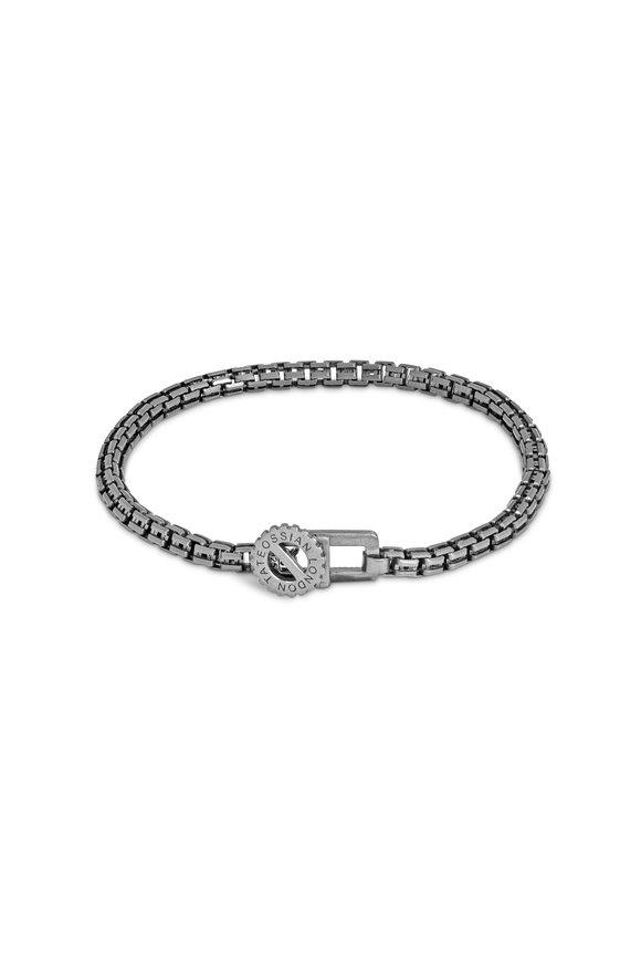 Tateossian Silver Single Wrap Venetian Gear Chain Bracelet