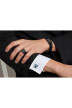 Tateossian - Ceramic Black Onyx Signet Ring