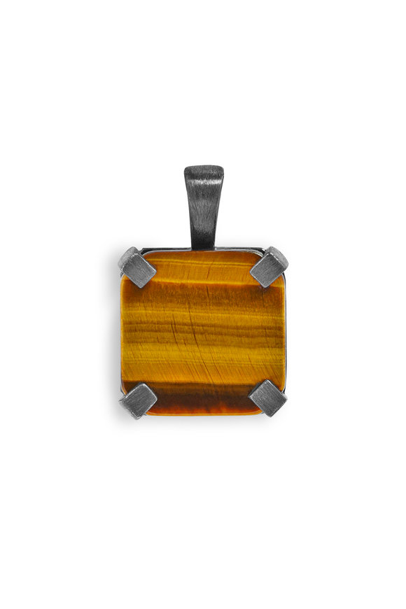 Tateossian Square Tiger's Eye Pendant