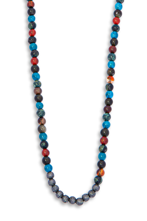 Tateossian Sennit Multicolor Bead Necklace