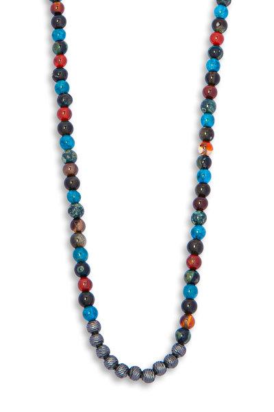 Tateossian - Sennit Multicolor Bead Necklace
