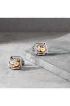 Tateossian - Rhodium Silver Square Gear Cufflinks