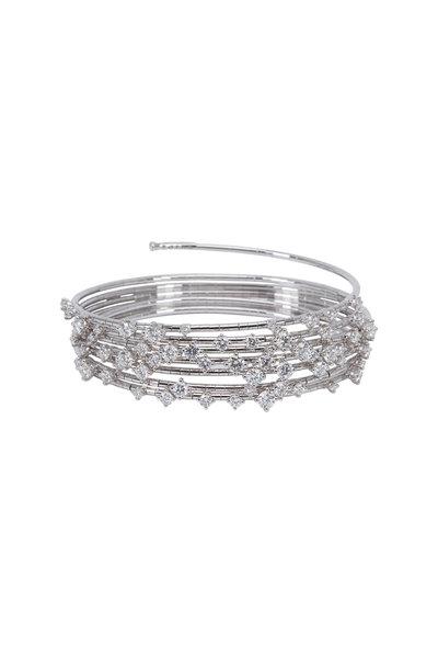 Mattia Cielo - White Gold White Diamond Coil Bracelet