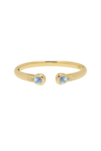 Temple St. Clair - Bella Yellow Gold Blue Moonstone Bangle