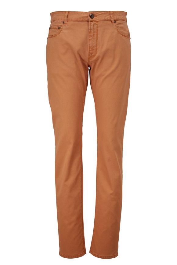 PT Torino Orange Microstructure Five Pocket Pant