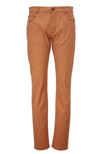 PT Torino - Orange Microstructure Five Pocket Pant
