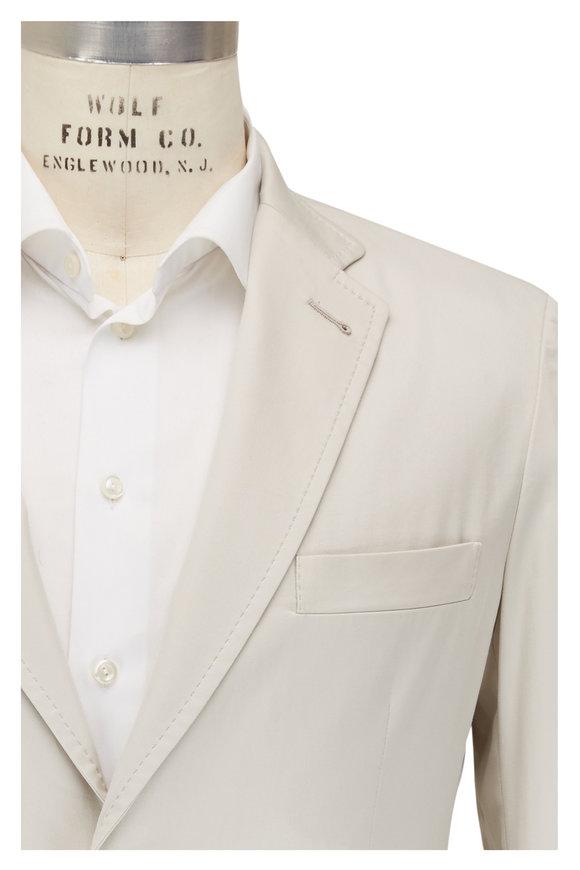 Brioni Putty Sea Island Cotton Jacket
