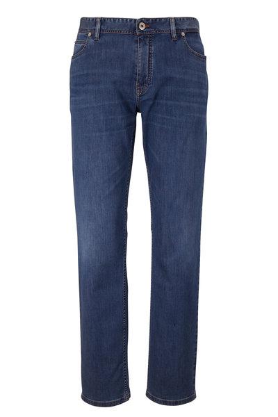 Brioni - Medium Blue Comfort Fit Jean