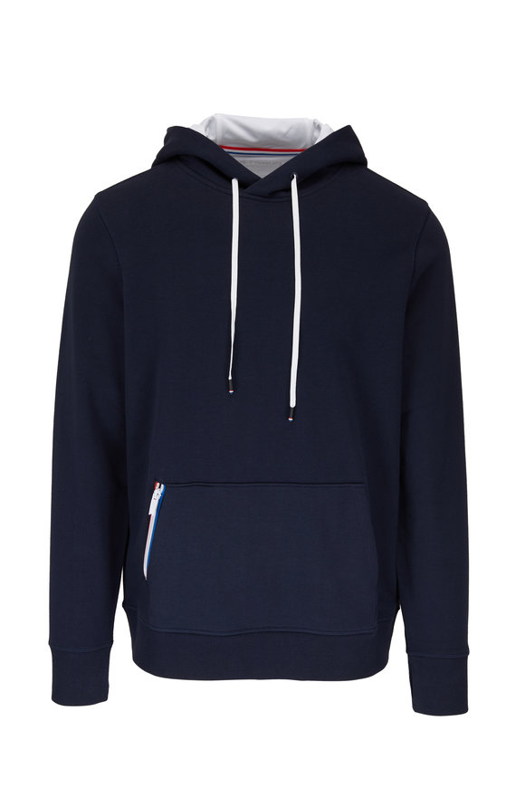 Fourlaps Rush Navy Stretch Cotton Hoodie