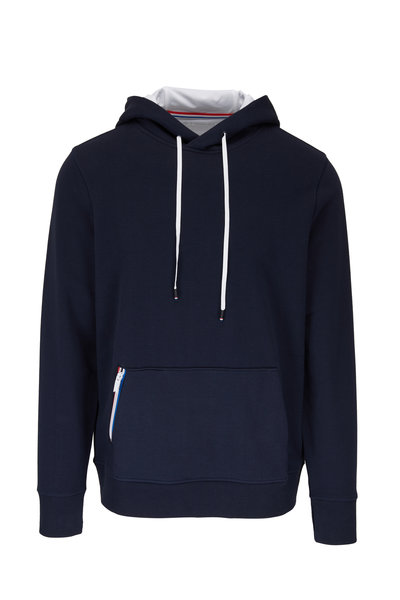 Fourlaps - Rush Navy Stretch Cotton Hoodie
