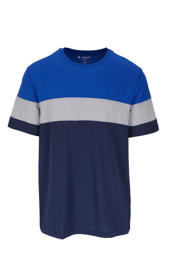 Fourlaps Smash Navy Multi Stripe T-Shirt