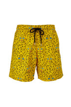 Vilebrequin - Moorea Yellow Tigers Print Swim Trunks