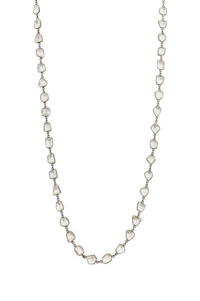 Loriann - Silver & Rhodium Quartz Accessory Chain Necklace