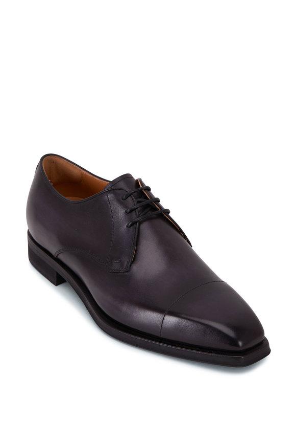 Berluti Blake Nero Grigio Leather Lace Up Dress Shoe