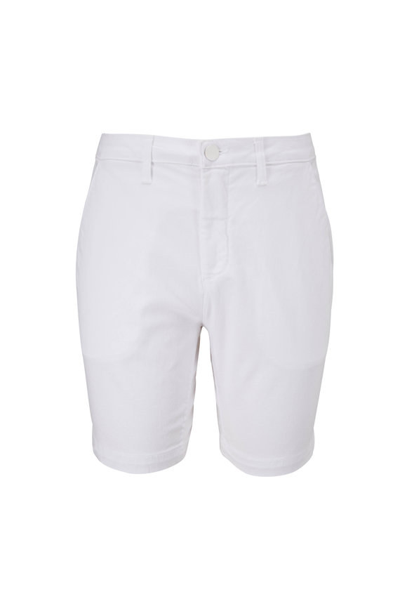 Monfrere Cruise Blanc Stretch Cotton Shorts