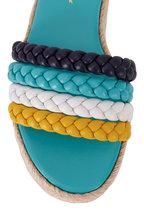 Gianvito Rossi - Marbella Yellow, Blue & White Leather Espadrille