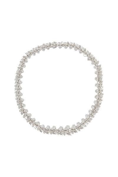 Louis Newman - Fancy White Diamond Necklace