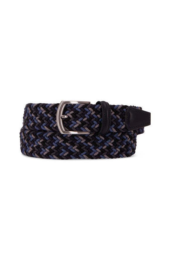 Anderson's Navy & Gray Braided Belt