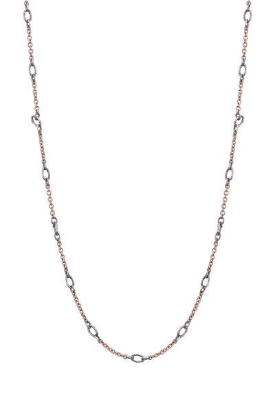 Sylva & Cie - 14K Rose Gold & Sterling Silver Chain